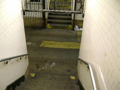 <em>One of the many subway stations in New York City; there's always enough vomit and homeless to go around.</em>