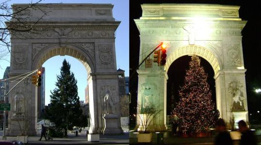 Washington Square Park - <em>It's like the difference between night and day.</em>