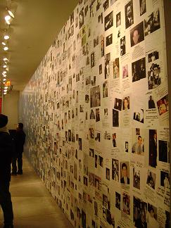 WTC Tribute Museum - <em>This wall of missing persons posters, along with another room that contained a massive collage of family photos of lost loved ones, really tore me up.</em>