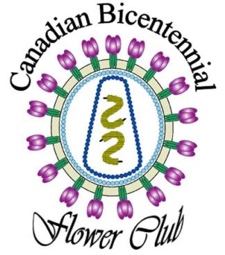 Canadian Bicentennial Flower Club Logo